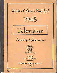 Image for Most Often Needed 1948 Television Servicing Guide