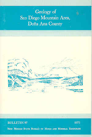 Image for Geology of San Diego Mountain Area