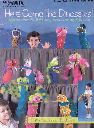 Image for Here Come the Dinosaurs - Puppets Galore!
