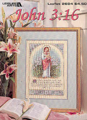 Image for John 3:16 - Cross-stitch