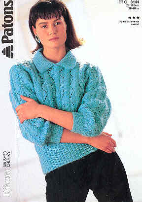 Image for Diana, Sweater with Collar - Patons