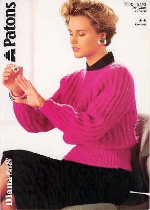 Image for Diana, Rib Sweater - Patons
