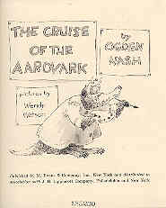 Image for The Cruise of the Aardvark