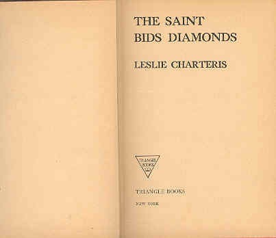 Image for The Saint Bids Diamonds