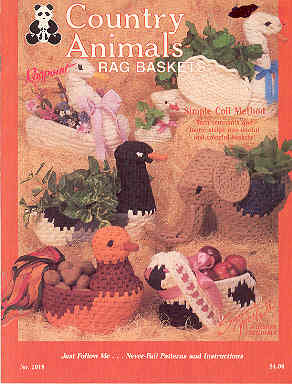 Image for Country Animal Rag Baskets