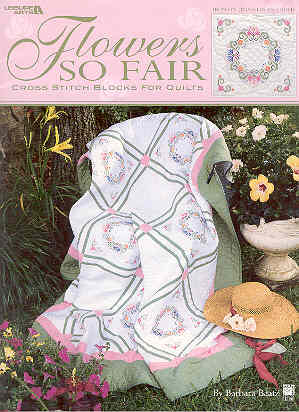 Image for Flowers So Fair Cross Stitch For Quilts