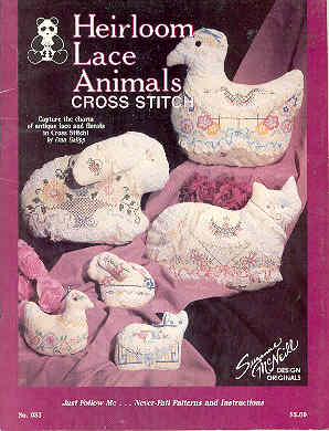 Image for Heirloom Lace Animals Cross Stitch