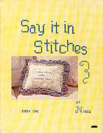 Image for Say It In Stitches Book One