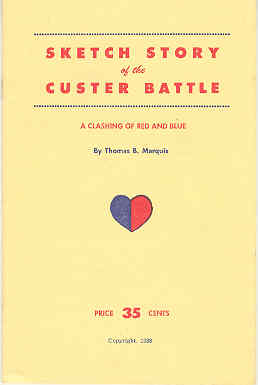 Image for Sketch Story of the Custer Battle A Clashing of Red and Blue