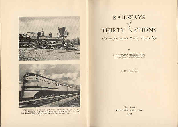 Image for Railways of Thirty Nations Government Versus Private Ownership