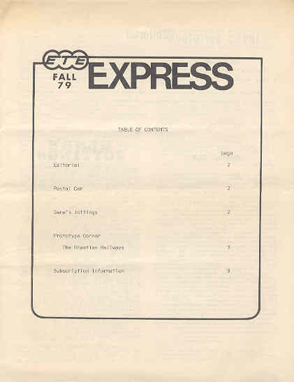Image for ETE (European Train Enthusiasts) Express Fall 1979