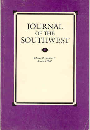 Image for Journal of the Southwest, Volume 32, Number 3, Autumn 1990