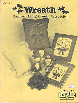 Image for Wreath Candlewicking & Counted Cross Stitch