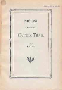 Image for The End of the Cattle Trail