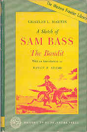 Image for A Sketch of Sam Bass The Bandit