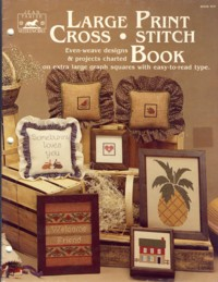 Image for Large Print Cross Stitch Book