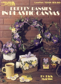Image for Pretty Pansies in Plastic Canvas Leaflet 1334