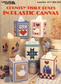 Image for Country Tissue Boxes in Plastic Canvas