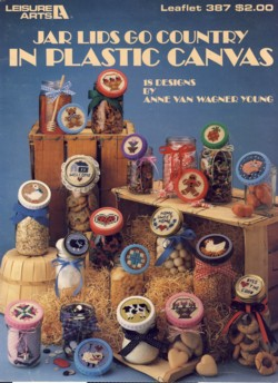 Image for Jar Lids Go Country in Plastic Canvas Leaflet 387