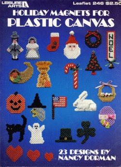 Image for Holiday Magnets for Plastic Canvas Leaflet 246