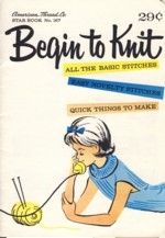 Image for Begin to Knit Star Book No. 167
