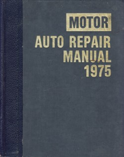 Image for Motor Auto Repair Manual 1975 38th Edition