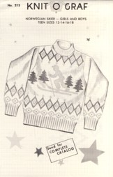 Image for Norwegian Skier Girls and Boys Teen Sizes 12 14 16 18 Pattern No. 213