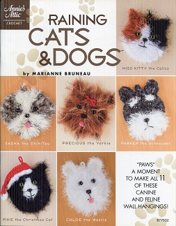 Image for Raining Cats & Dogs ~ Annie's Attic Crochet (Make 11 Canine & Feline Wall Hangings)