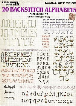 Image for 20 Backstitch Alphabets Mini Series #2 Leaflet 407