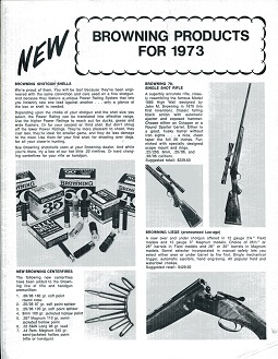 Image for Browning Products for 1973