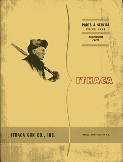 Image for Ithaca Parks & Service Price List, Component Parts