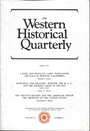 Image for The Western Historical Quarterly April 1975 Volume VI Number 2