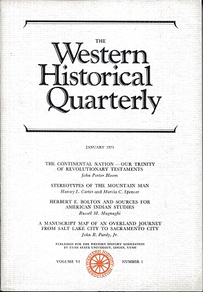 Image for The Western Historical Quarterly January 1975 Volume VI Number 1