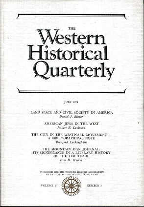 Image for The Western Historical Quarterly July 1974 Volume V Number 3