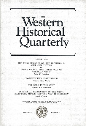 Image for The Western Historical Quarterly January 1974 Volume V Number 1