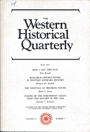 Image for The Western Historical Quarterly July 1973 Volume IV Number 3