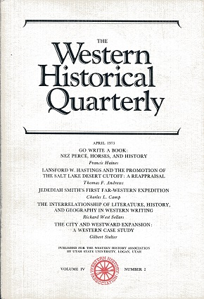 Image for The Western Historical Quarterly April 1973 Volume IV Number 2