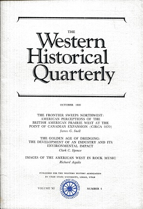 Image for The Western Historical Quarterly October 1980 Volume XI Number 4