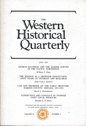 Image for The Western Historical Quarterly July 1979 Volume X Number 3