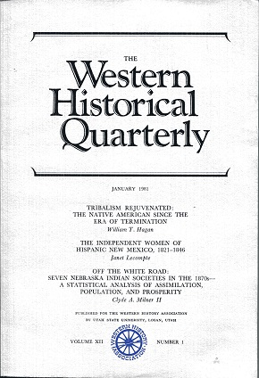 Image for The Western Historical Quarterly January 1981  Volume XII Number 1