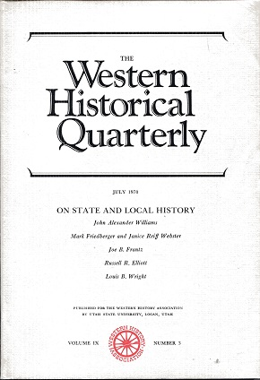 Image for The Western Historical Quarterly July 1978 Volume IX Number 3
