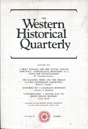 Image for The Western Historical Quarterly January 1978 Volume IX Number 1