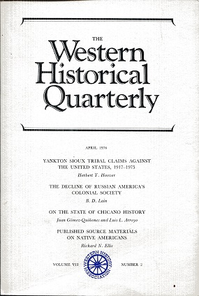 Image for The Western Historical Quarterly April 1976 Volume VII Number 2
