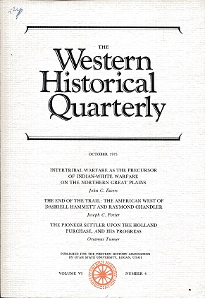 Image for The Western Historical Quarterly October 1975 Volume VI Number 4