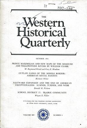 Image for The Western Historical Quarterly October 1981 Volume XII Number 4