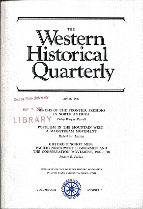 Image for The Western Historical Quarterly April 1982 Volume XIII Number 2