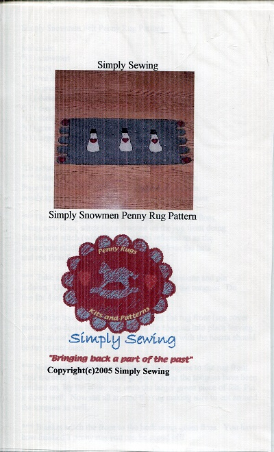 Image for Simply Snowmen Penny Rug Pattern