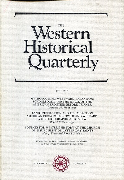 Image for The Western Historical Quarterly July 1977 Volume VIII Number 3