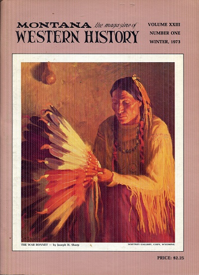 Image for Montana Western History Winter 1973 Volume XXIII Number One